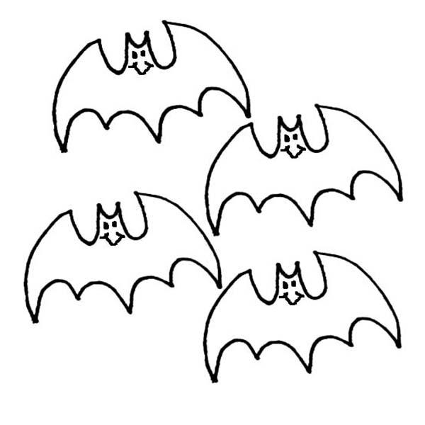 Kids Drawing Bats Coloring Page Color Luna