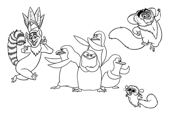 Lemur, King Julien the King of Lemur in Madagaskar Coloring Page: King Julien The King Of Lemur In Madagaskar Coloring PageFull Size Image