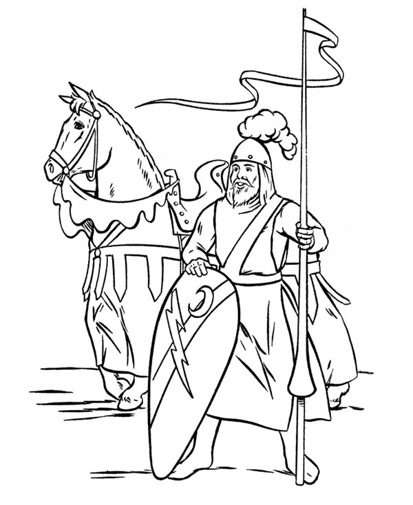 coloring pages middle ages - photo#7