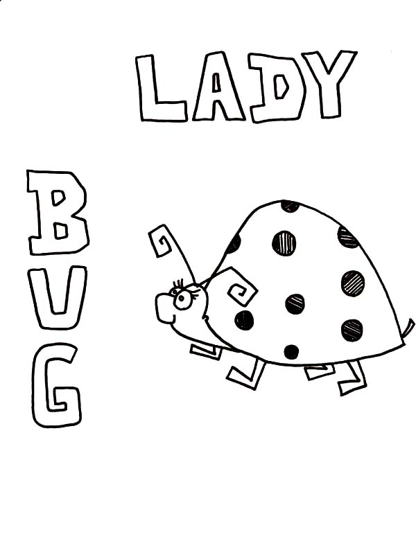 Lady Bug, : Lady Bug Drawing Coloring Page