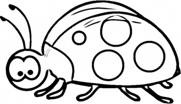 Lady Bug, : Lady Bug Seems Confused Coloring Page