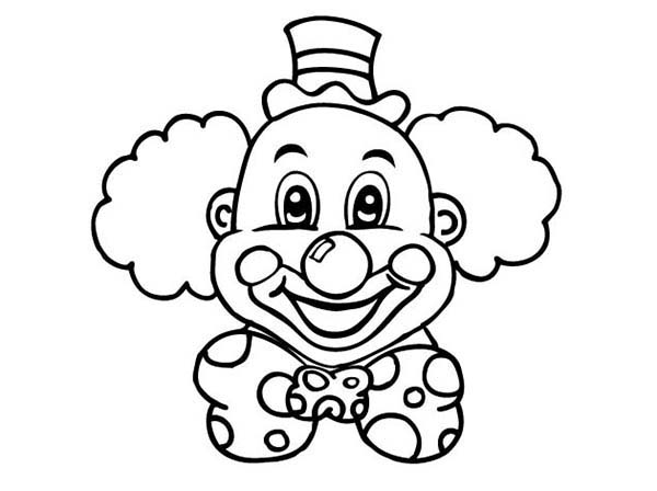 clown faces coloring pages - photo#24