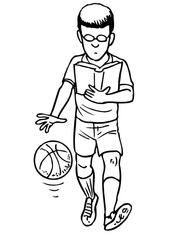 NBA, : Learn to be NBA Player Coloring Page
