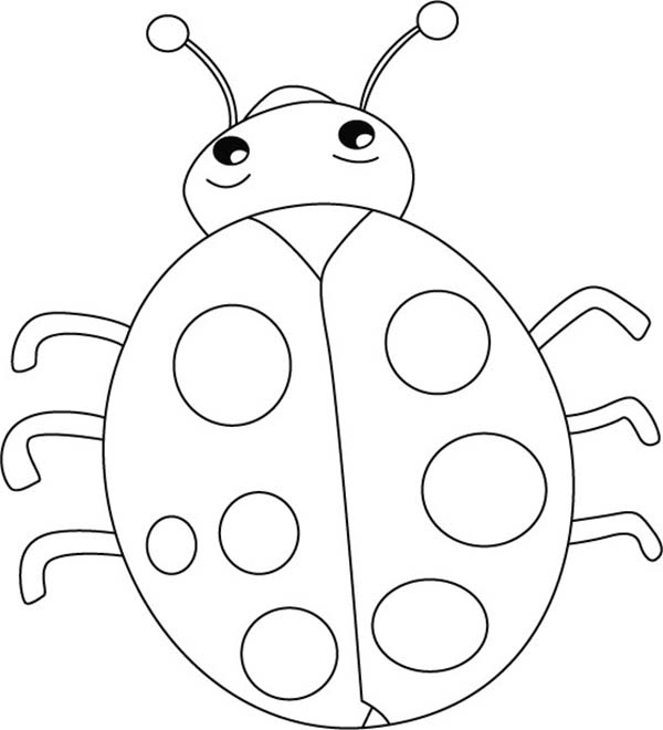 Lovely Lady Bug Coloring Page | Color Luna