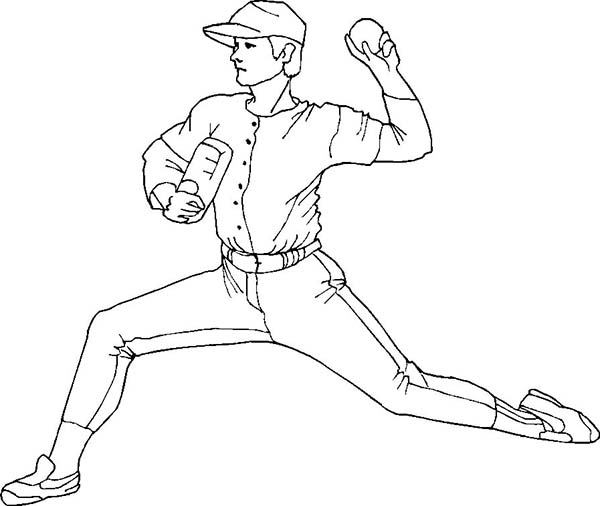 Mlb pitcher pose coloring page color luna for Coloring pages of baseball