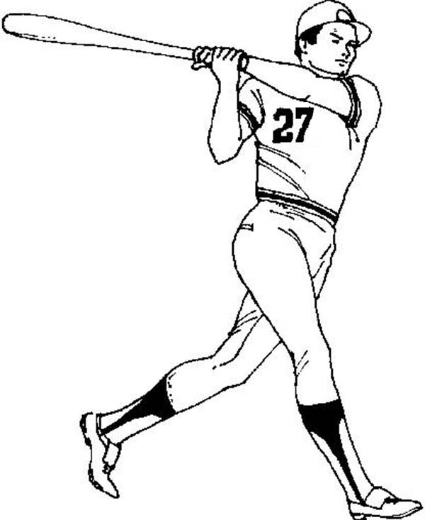 MLB, : MLB Player Coloring Page