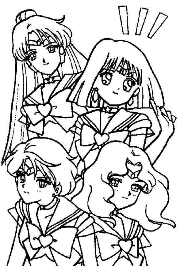 Sailor Moon, : Manga Sailor Moon Picture Coloring Page