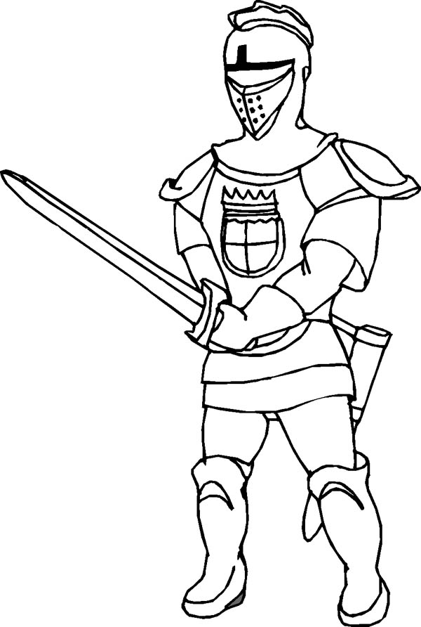 Middle Ages Knight Coloring Page | Color Luna