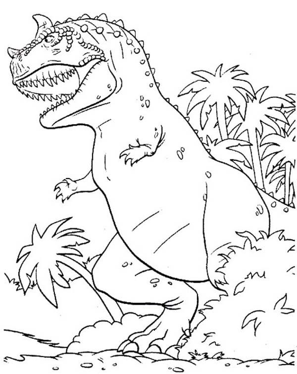 T-Rex, : Monstrous Dinosaurus T Rex Coloring Page