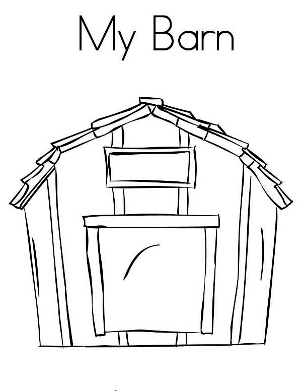 Barn and a Milk Cow Coloring Page  Color Luna
