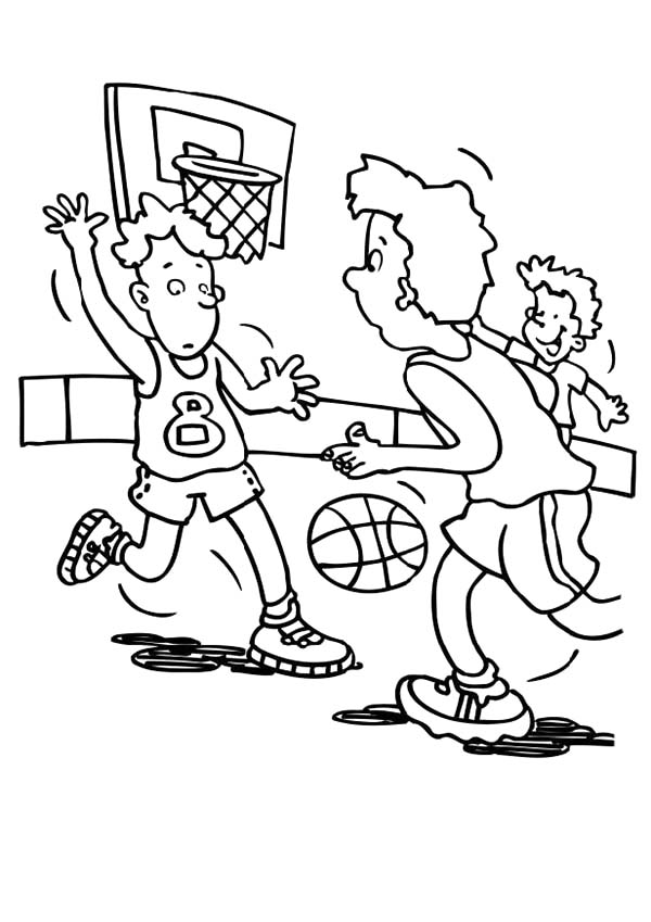 NBA, : NBA Game Coloring Page