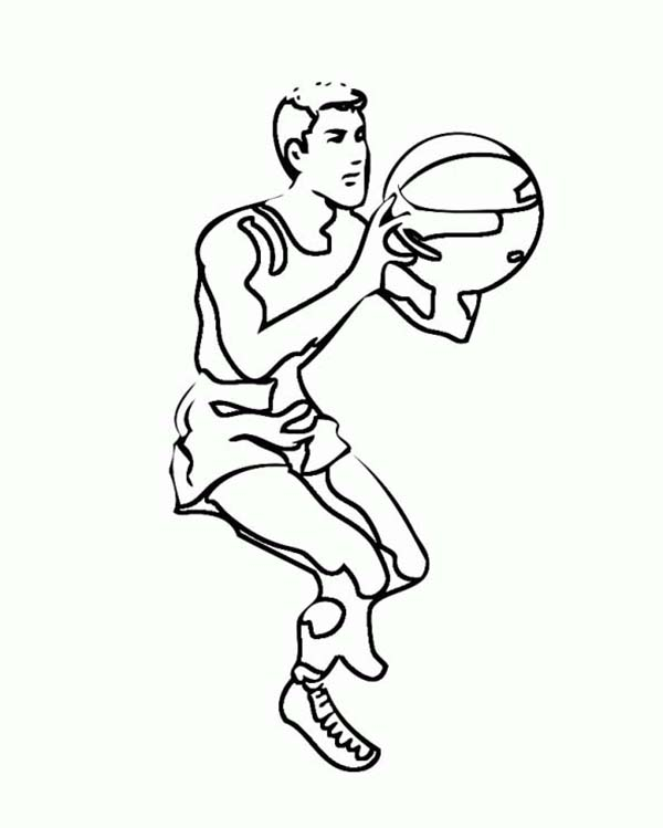 NBA, : NBA Player Free Throw Coloring Page