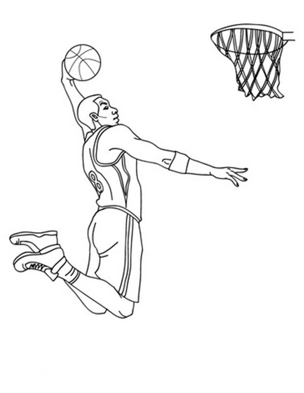 nba player slam dunk coloring page color luna