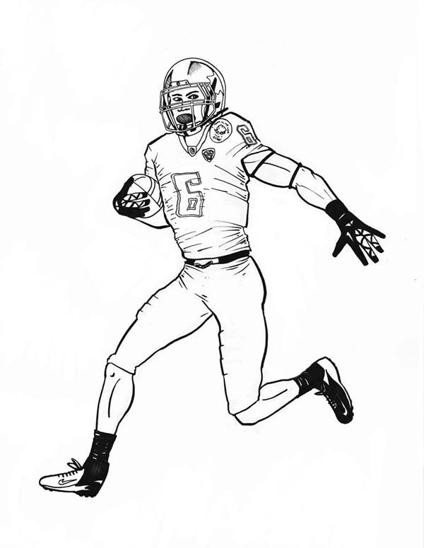 NFL Scoring Touch Down Coloring Page | Color Luna