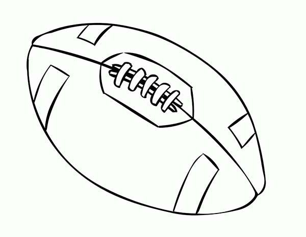 NFL, : NFL Standard Football Coloring Page