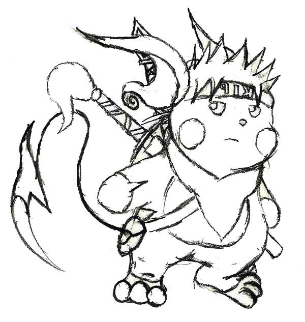 Naruto Raichu Coloring Page Color Luna