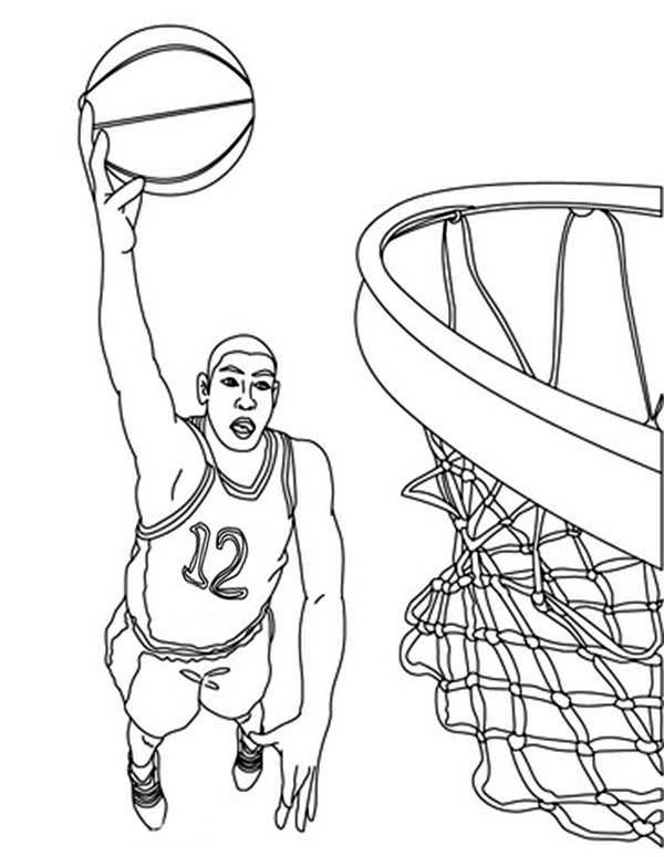 basketball player printable coloring pages - photo#12