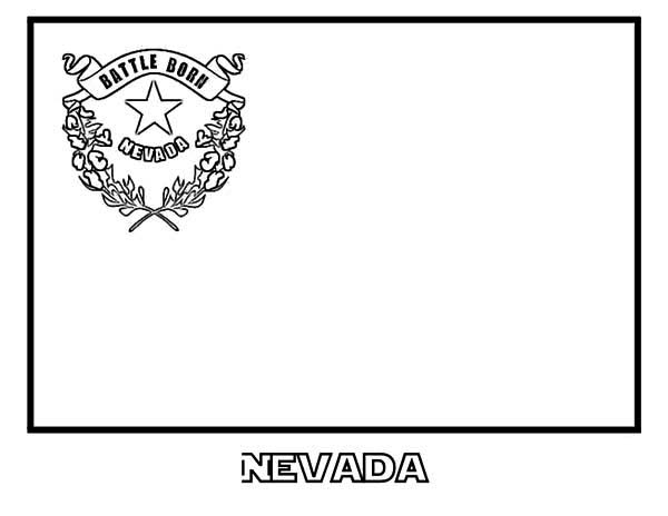 State Flag, : Nevada State Flag Coloring Page
