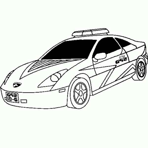 new lamborghini police car coloring page