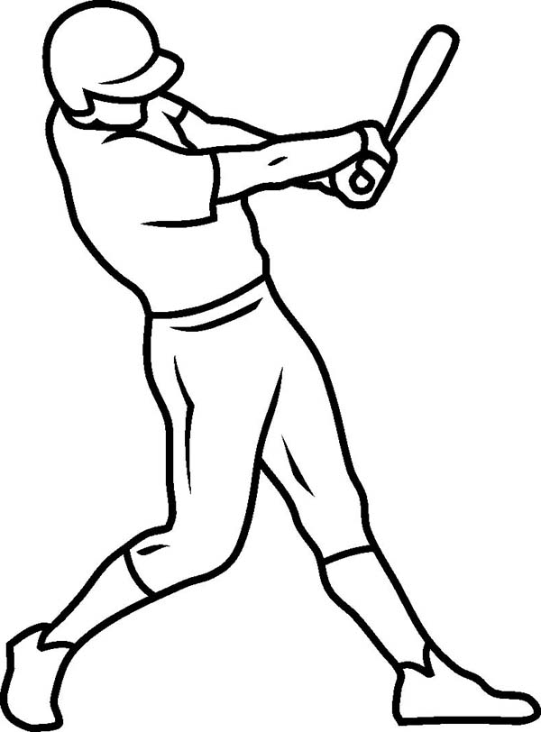 MLB, : One Strike on MLB Game in MLB Coloring Page