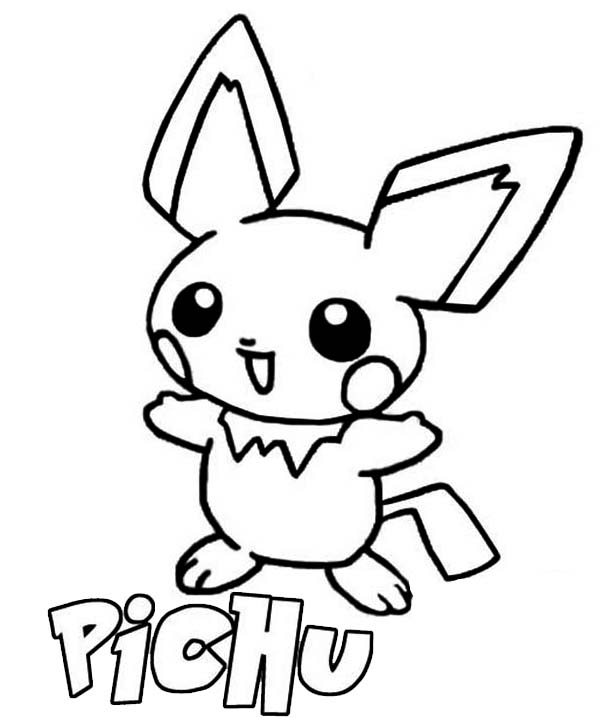 p is for pichu coloring page color luna