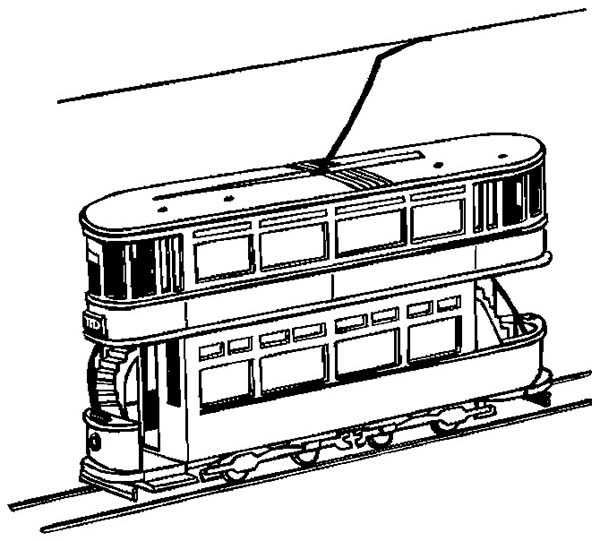 Trains, : Passanger Loader Train Coloring Page