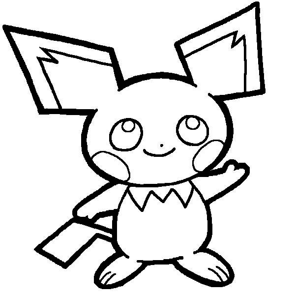 Pichu Drawing Coloring Page Color Luna