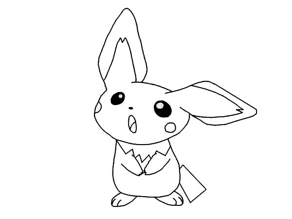Pichu, : Pichu is Asking for Something Coloring Page