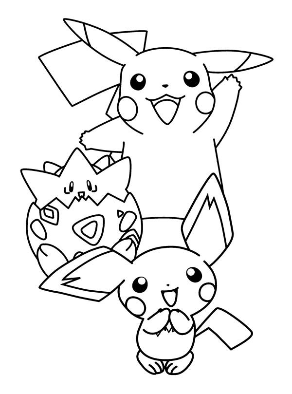 Pichu is born coloring page color luna for Pichu coloring pages
