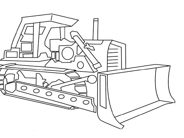digger picture of digger tractor coloring page