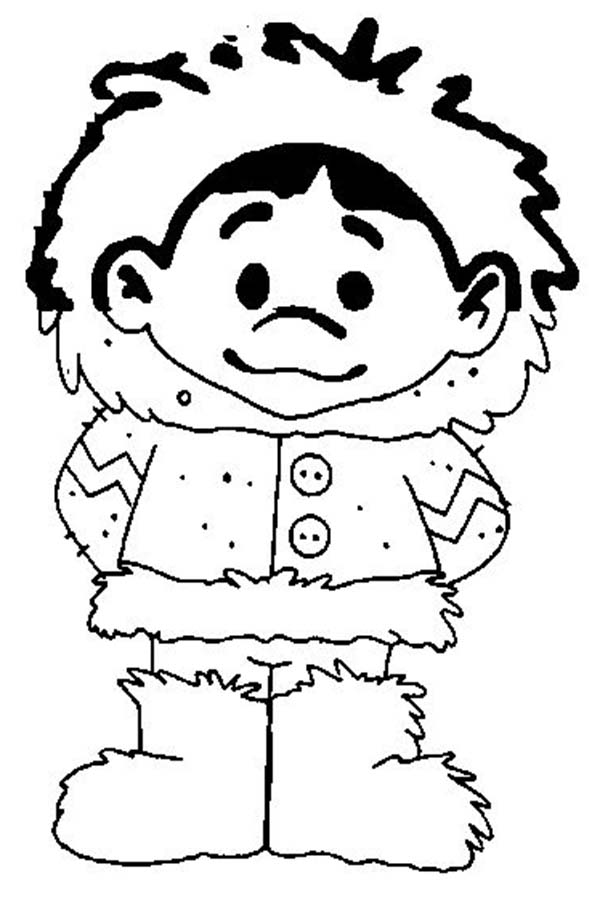 coloring pages eskimo - picture of eskimo boy coloring page color luna