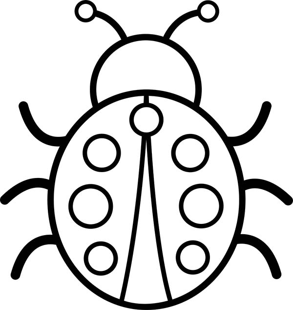 Picture of lady bug coloring page color luna for Coloring pages of ladybugs