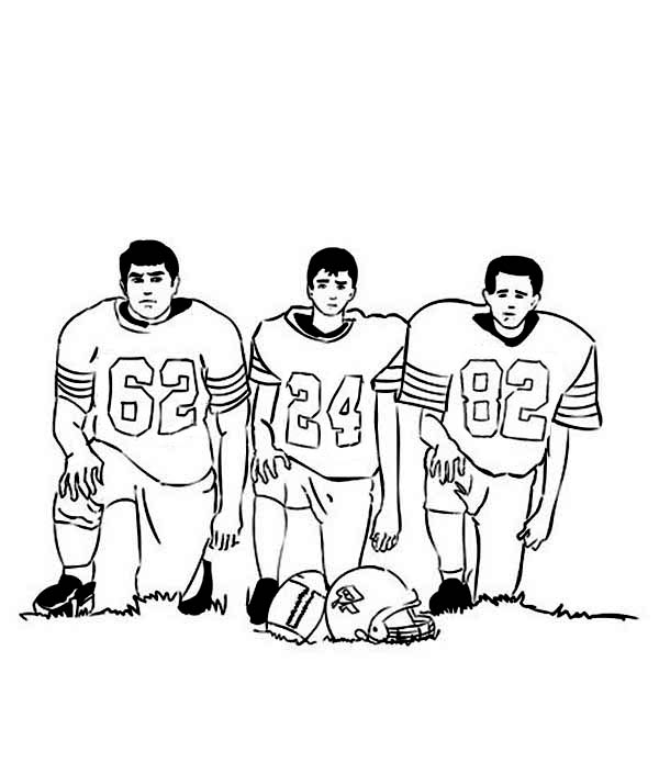 NFL, : Picture of NFL Player Coloring Page
