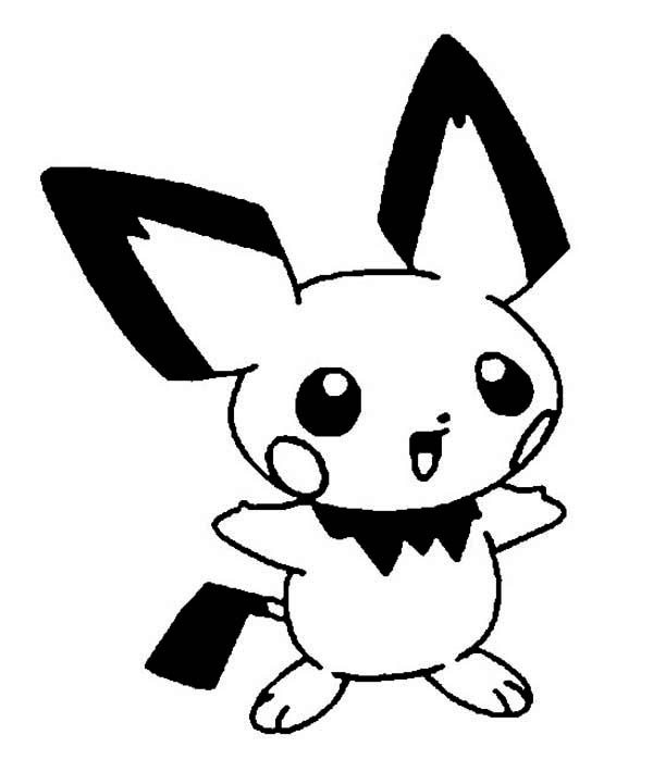 picture of pichu coloring page color luna