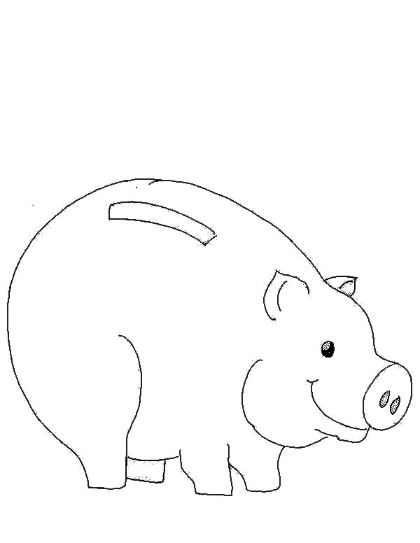 piggy bank coloring page - picture of piggy bank coloring page color luna