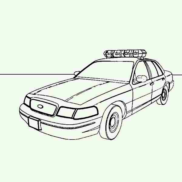 Picture of police car coloring page picture of police car for Police car coloring pages