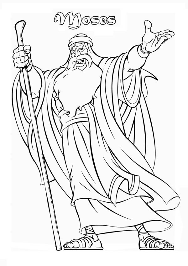 Picture of Prophet Moses Coloring Page Color Luna