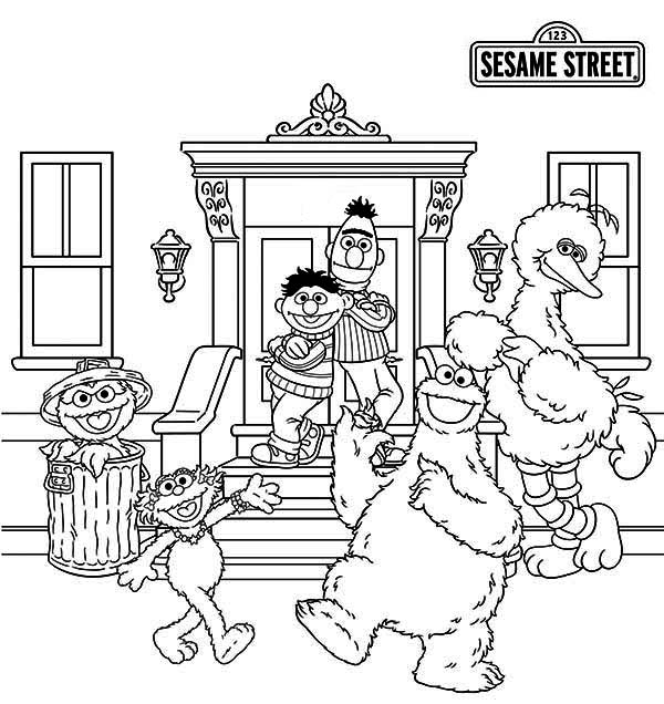 Picture of sesame street coloring page color luna for Sesame street color pages