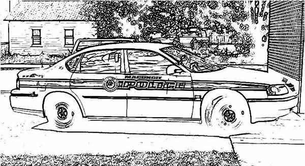 Police car parking coloring page color luna for Police car coloring pages