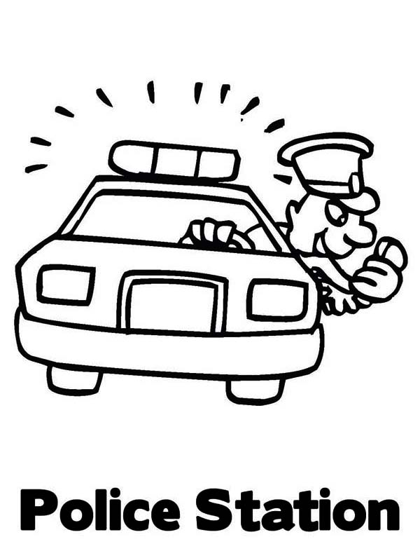 Police Station Coloring Pages Police Car Station Coloring