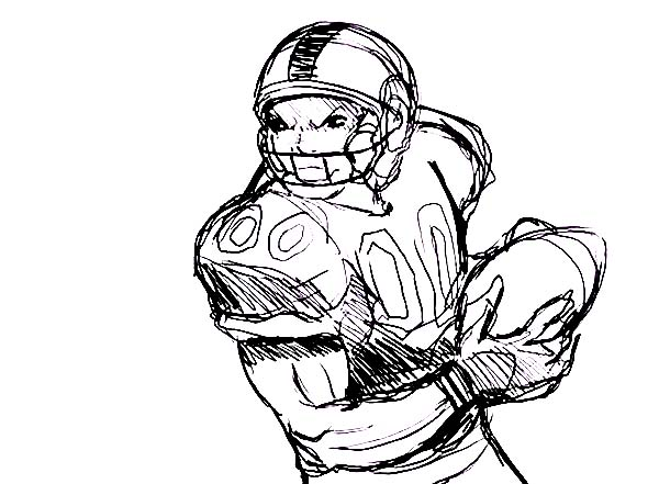 NFL, : Professional Player of NFL Coloring Page