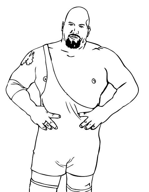 Wrestling, : Professional Wrestling Athlete Coloring Page