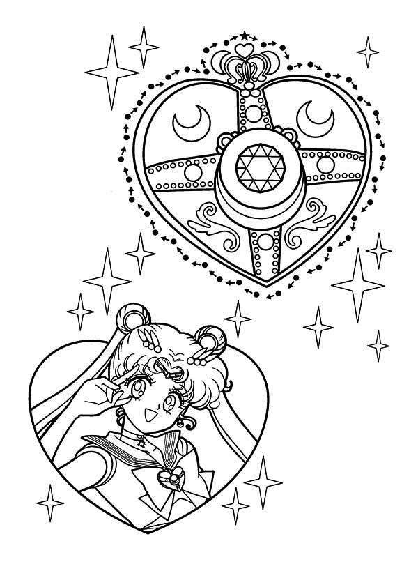 Sailor Moon Make Up Coloring Page | Color Luna