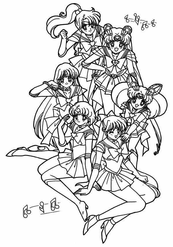 Sailor Moon Poster Coloring Page | Color Luna