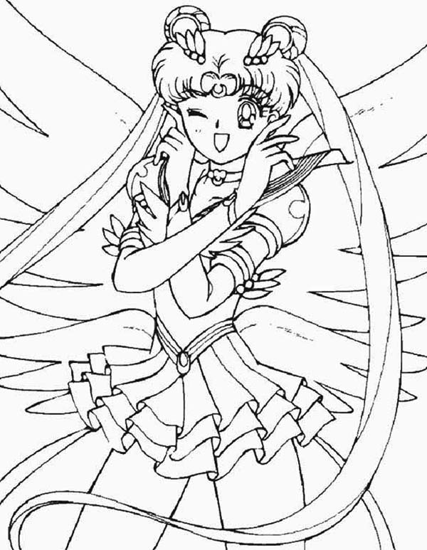 Sailor Moon, : Sailor Moon Soldier of Love and Justice Coloring Page