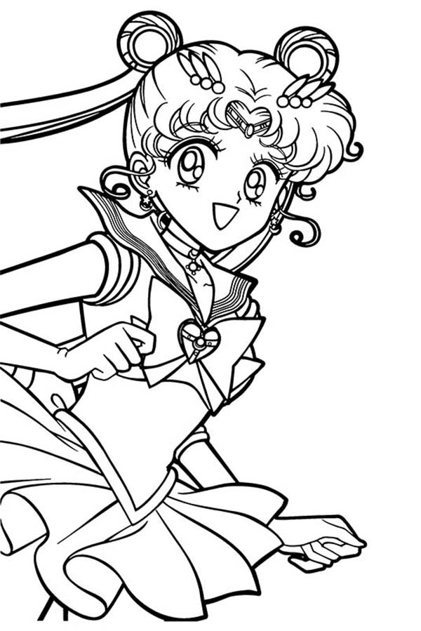 Sailor Moon, : Sailor Moon Tsukino Usagi Coloring Page