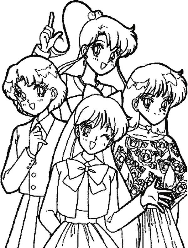 Sailor Moon, : Sailor Moon in Casual Dress Coloring Page