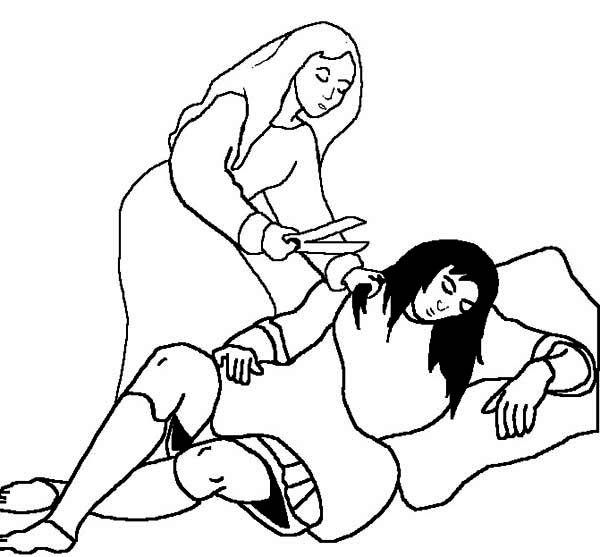 samson and the lion coloring pages - samson delilah coloring pages