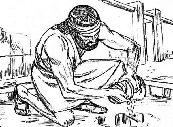 Samson, : Samson Picture Coloring Page