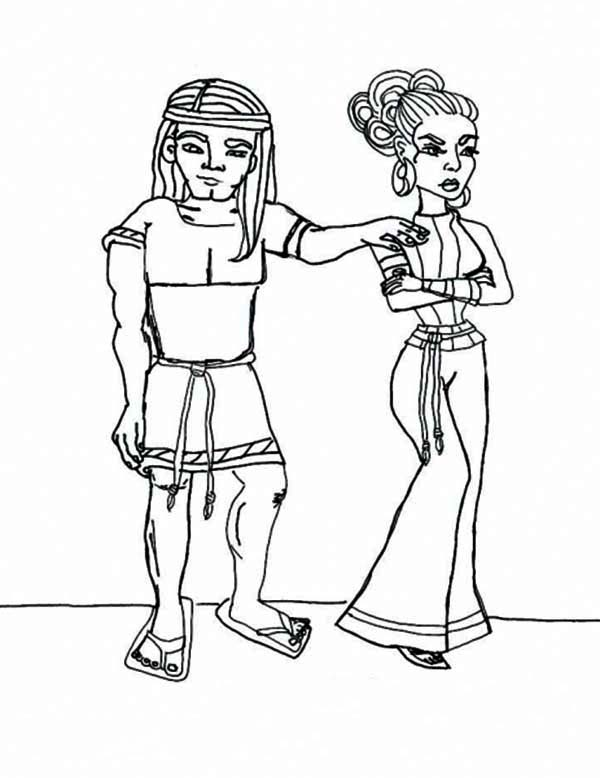 Samson, : Samson and Delillah Coloring Page